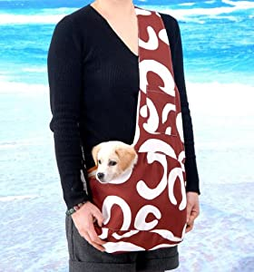 New stylish brown and white art pattern - Dog carrier sling pattern ...