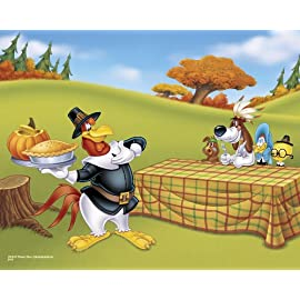 Foghorn Leghorn at Thanksgiving, 16 x 20 Poster Print