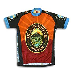 World Jersey's Men's Black Butte Porter Short Sleeve Cycling Jersey