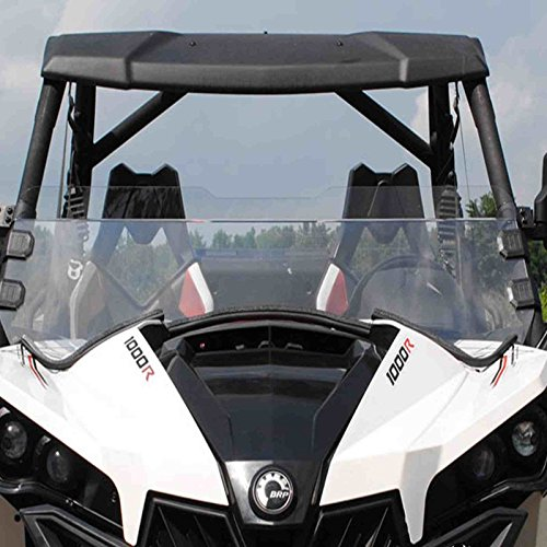 Can-am Maverick Scratch Resistant Clear Half Front Windshield w/ Clamps (Maverick Hood compare prices)