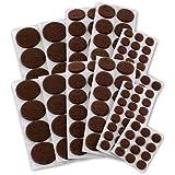 Junipers Assorted Furniture Felt Floor Protector Pads, Pack of 152 - Brown