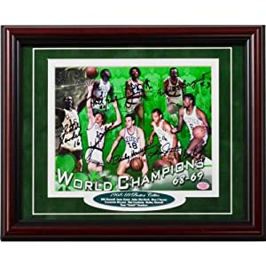 1968-1969 Boston Celtics Autographed Framed 16x20 Photo - Autographed NBA Photos by Sports Memorabilia