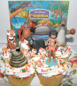 Disney Jungle Book Cake Toppers / Cupcake Party Favor Decorations Set