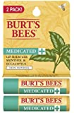 Burt's Bees Medicated Lip Balm with Menthol and Eucalyptus Blister Box, 2 Count