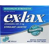 ex-lax Maximum Strength Stimulant Laxative, Pills - 48 ea