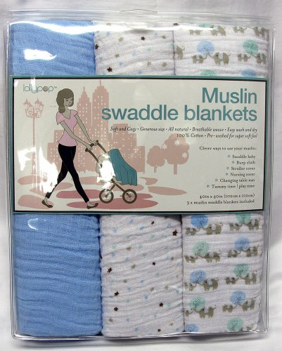 Lollypop Muslin Swaddle Blankets 3 Pack - 1