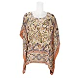 Beautiful Clothes Womens Crepe Ponchos & Capes ,Multi-Coloured ,X-Large