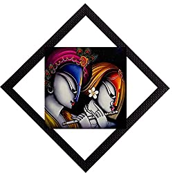 eCraftIndia Radha Krishna Satin Matt Textured UV Art Painting