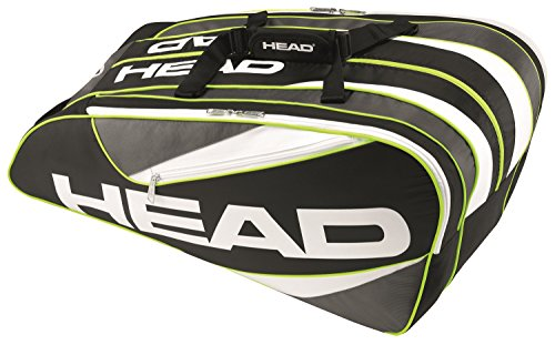 Head Elite Monster Combi - Borsa da tennis, unisex, Elite 12R monstercombi, nero/antracite