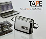 TsirTech(TM) Audio USB Portable Cassette Tape-to-MP3 Player Adapter with USB Cable and Software Cd Also Features Auto Reverse - PC and MAC Compatible