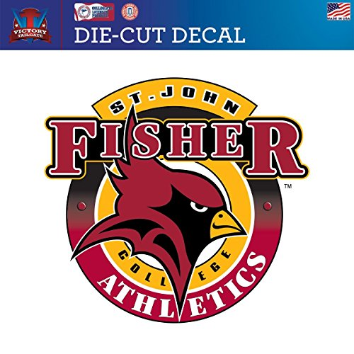 St. John Fisher College Cardinals Die-Cut Vinyl Decal Logo 1 (Approx 6x6) (St John Fisher compare prices)