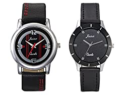 Jainx New Fashion Black Dial Analog Couple Watch-JC413