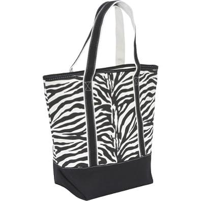 Earth Axxessories Canvas Zebra Tote (Black/White)