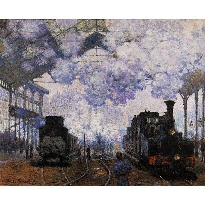 Claude Monet (La Gare St-Lazare, Arrival of a Train) Art Poster Print - 13x19