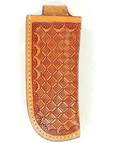Nocona Men'S Basketweave Leather Knife Sheath Natural One Size