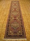 2'7 x 13'1 Burgundy Persian Tabriz Runner Rug