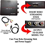 HDMI Converter for Roku Streaming Stick: Use your Roku Streaming Stick with Older TVs that have Composite (red/white/yellow) Inputs. [NOTE: ROKU STREAMING STICK SOLD SEPARATELY]