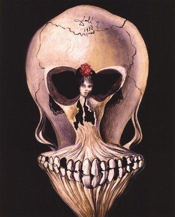 Ballerine et Tete de Mort, c.1939 - Poster by Salvador Dali (8x10) (Salvador Dali Pictures compare prices)
