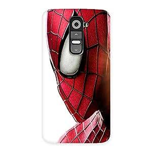 Ajay Enterprises Red Hero Face Back Case Cover for LG G2