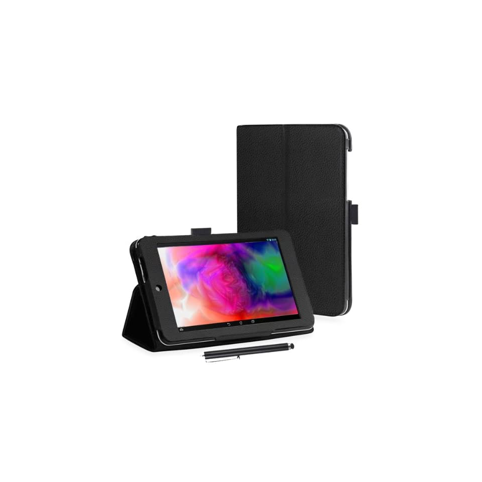 Kamor® Asus memo pad hd 7 ME173X Case cover   with Stylus pen, Automatic Sleep/Wake Function, Built in 2 view angle stand for Asus MeMO Pad HD 7 17,8 cm Tablet (Model No ME 173X, 7 Inch, 16GB, Black)