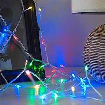 40er LED Lichterkette bunt Batteriebetrieb Lights4fun