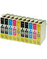10 cartouches d'encre pour Epson T1811 T1812 T1813 T1814 XL Contenu - 4x Noir 18ml chacun , 2 pour chaque C , M, Y par 18ml - Cartouches d'encre pour Epson Expression Home XP30 XP102 XP202 XP205 XP302 XP305 XP402 XP405