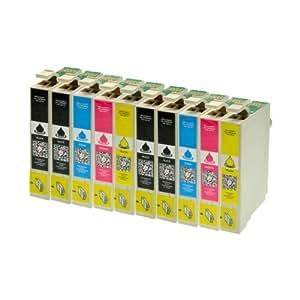 10 Tintenpatronen für Epson T1811 T1812 T1813 T1814 XL-Inhalt - 4x Schwarz je 18ml, 2x je C,M,Y je 18ml -- Druckerpatronen für Epson Expression Home XP30 XP102 XP202 XP205 XP302 XP305 XP402 XP405