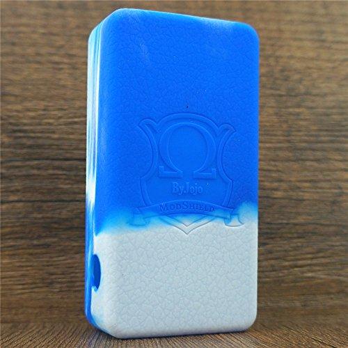Silicone Case for HEXOHM V1 & V2 Craving Vapor MODSHIELD BYJOJO Skin Hex Ohm Sleeve Cover Wrap (BLUE/WHITE) (Vapor Ohm compare prices)