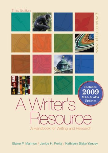 A Writer's Resource (spiral-bound) 2009 APA & MLA...
