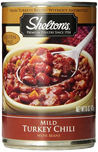 Shelton'S Turkey Chili, Mild Cwb, 15-Ounce Cans (Pack Of 12)