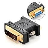 Ugreen DVI-D24+5 DVI-Iオス to VGAメス変換デュアルリンクデジタルビデオケーブル /ゲーム、DVD、ラップトップ、HDTVやプロジェクター、1080p対応、金メッキコネクタ搭載 (アダプター)