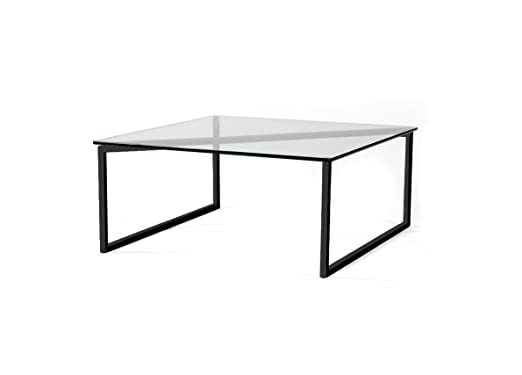 SNAKE Square Contemporary Glass Coffee Table By FAKTURA NYC