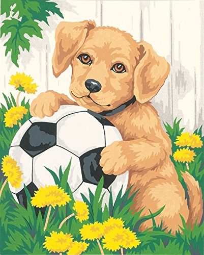 Dimensions Needlecrafts Paintworks Paint By Number, Puppy & Soccer Ball - 1