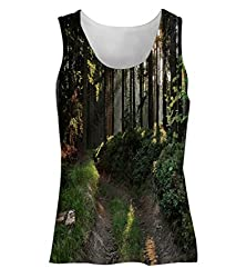 Snoogg No Way In Forest Womens Tunic Casual Beach Fitness Vests Tank Tops Sleeveless T shirts