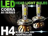 【送料無料 保証付】トヨタ クラウン ハードトップ(GS14#系 LS14#系 JZS14#系 GS15#系 LS15#系 JZS15#系) クラウン ロイヤル(GS17#系 JZS17#系) ヘッドライト用 H4 LEDバルブ CANVASキャンセラー内臓 COBRA製