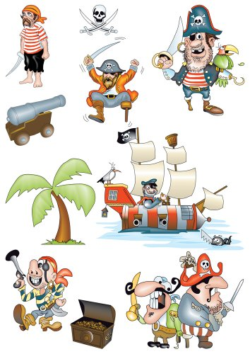 Brewster Spirit 350-0204 Peel & Stick Pirates European Wall Decals