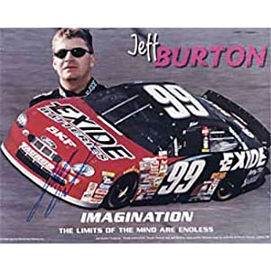 Jeff Burton Autographed Signed 8x10 Photo by Hollywood Collectibles