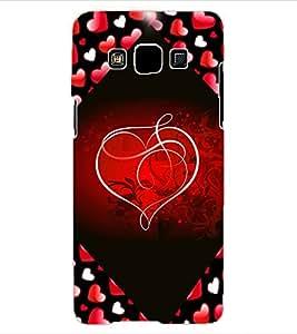 ColourCraft Love Heart Design Back Case Cover for SAMSUNG GALAXY A3