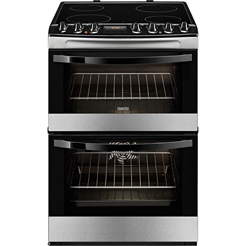 Zanussi ZCV68310XA Electric Cooker with 4 Hotplate Burners in Stainless Steel