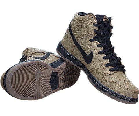 online store 431df fca39 Nike SB Dunk High Premium (Paper Bag) - Filbert   Black-Gum Dark Brown-Black,  11 D US