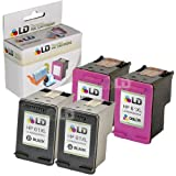 LD © Remanufactured Replacements for Hewlett Packard (HP 61XL) Set of 4 High Yield Ink Cartridges Includes: 2 CH563WN Black, and 2 CH564WN Color for use in HP Deskjet 1000, 1010, 1050, 1051, 1055, 1056, 2050, 2510, 2512, 2514, 2540, 2542, 3000, 3050, 3050A, 3051A, 3052A, 3054, 3056A, 3510, 3511, 3512, 3516 & ENVY 4500, 4504, 5530, 5531 & Officejet 4630, 4632, 4635 Printers ~ LD Products