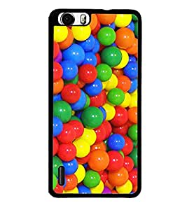 Multi colour Balls 2D Hard Polycarbonate Designer Back Case Cover for Huawei Honor 6