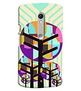 Blue Throat Tree Pattern Printed Designer Back Cover/ Case For Moto X Style