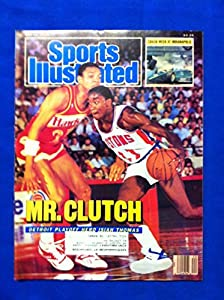 1987 Sports Illustrated May 18 Isiah Thomas - Mr Clutch Detroit Pistons Excellent