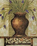 Oil Painting 'House Plant With Purple Flowers', 30 x 37 inch / 76 x 94 cm , on High Definition HD canvas prints is for Gifts And Bar, Basement And Home Theater Decoration, graphy