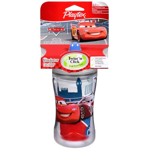 Playtex Baby Insulator, Spill-Proof 9 OZ Cup: Disney Cars - Assorted Designs - 1