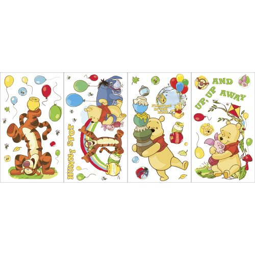 Blue Mountain Wallcoverings GAPP1760 Pooh Scenic Self-Stick Wall Appliqués - 1