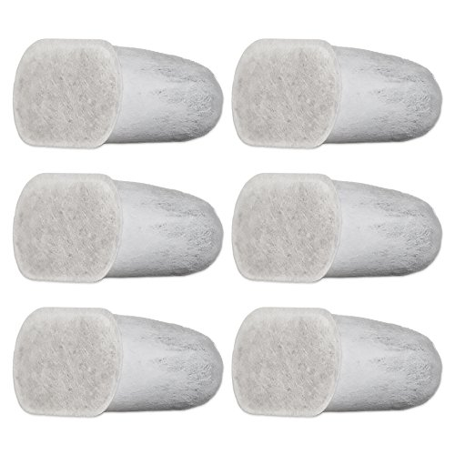 Filteristic Six Single Cup Brewer Replacement Charcoal Filters - Works with Breville Espresso ...