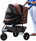 Pet Gear No-Zip Special Edition Pet Stroller, with Zipperless Entry, Chocolate