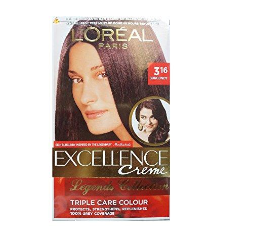 L'Oreal Paris L'Oreal Paris Excellence Creme, Burgundy 316, 72ml+100g